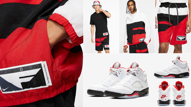 jordan-5-fire-red-nike-flight-clothing