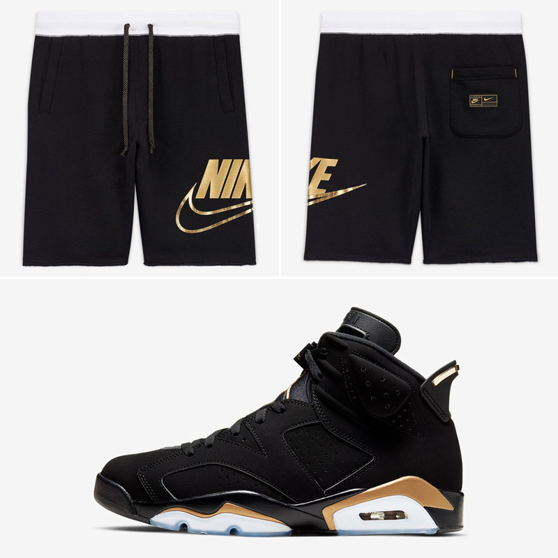 jordan-6-dmp-black-gold-nike-shorts