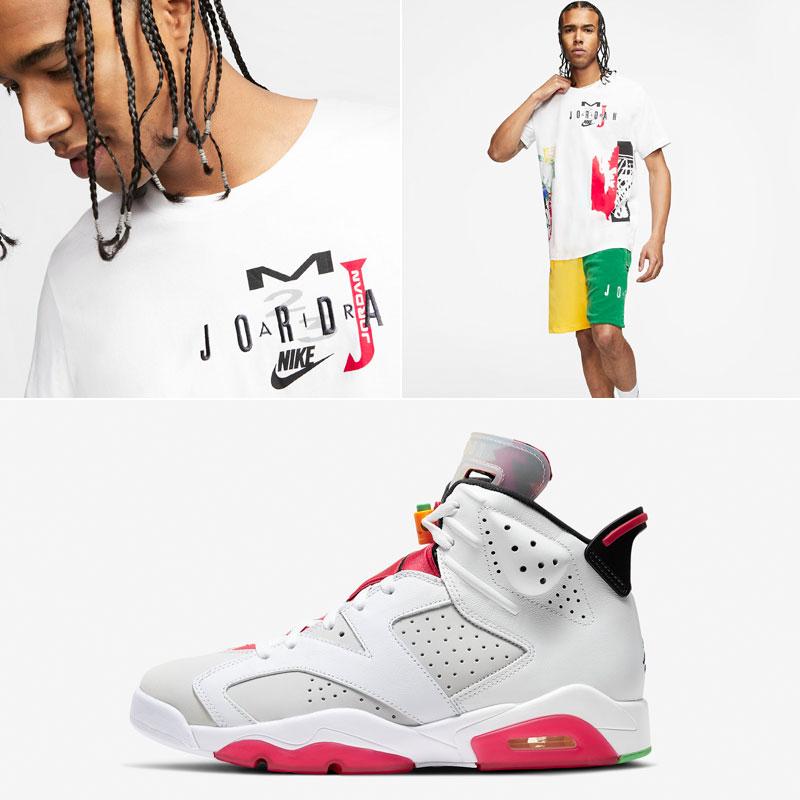jordan-6-hare-shirt-shorts-outfit-match
