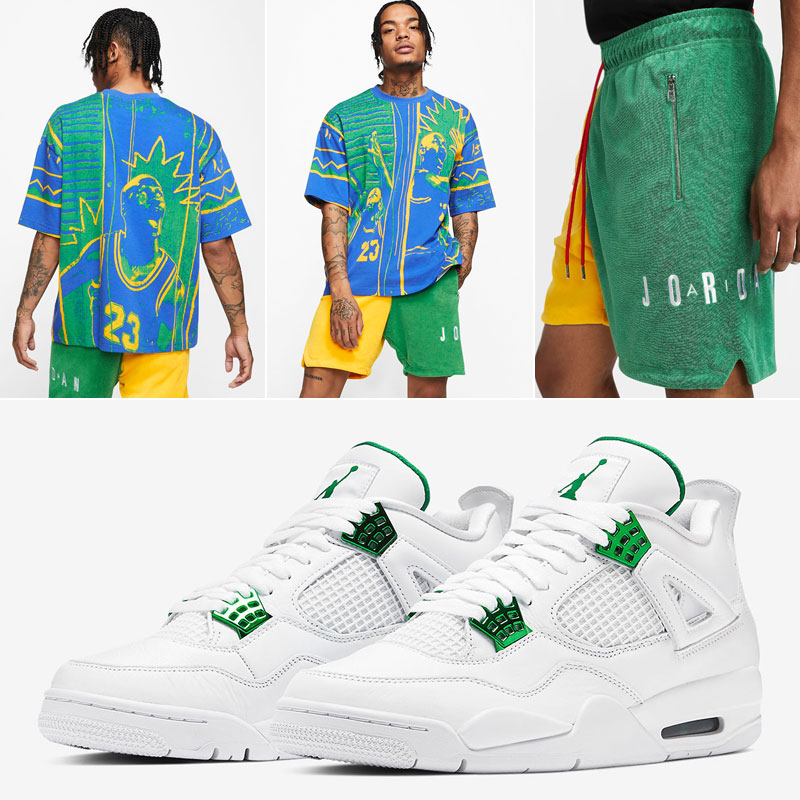 jordan-clothing-to-match-air-jordan-4-green-metallic