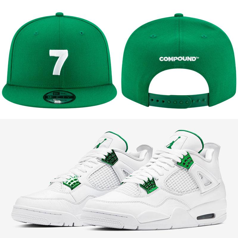 jordsn-4-metallic-green-hat-match