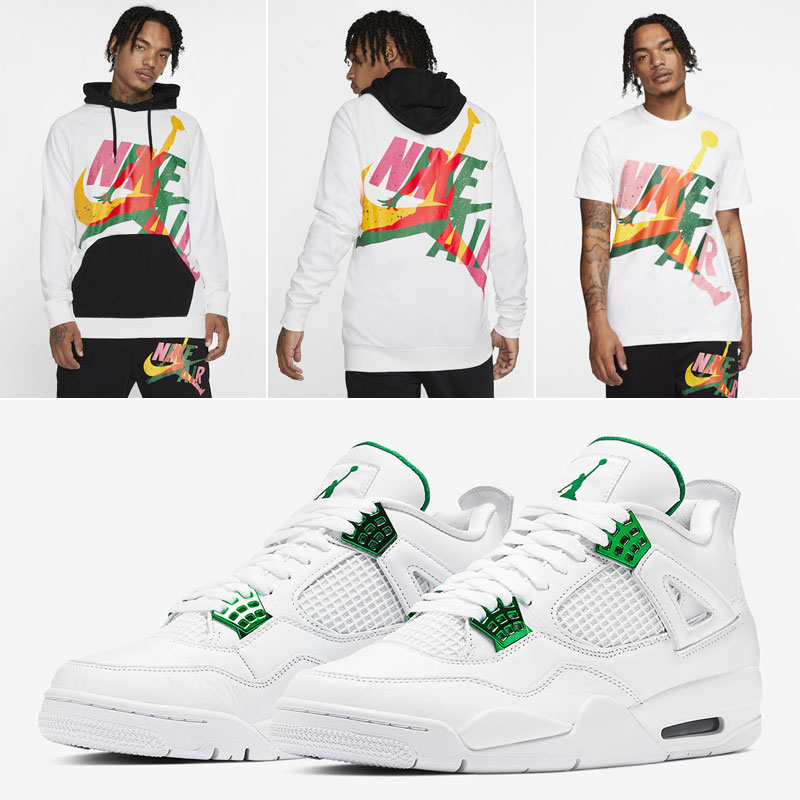 metallic-green-jordan-4-apparel-match