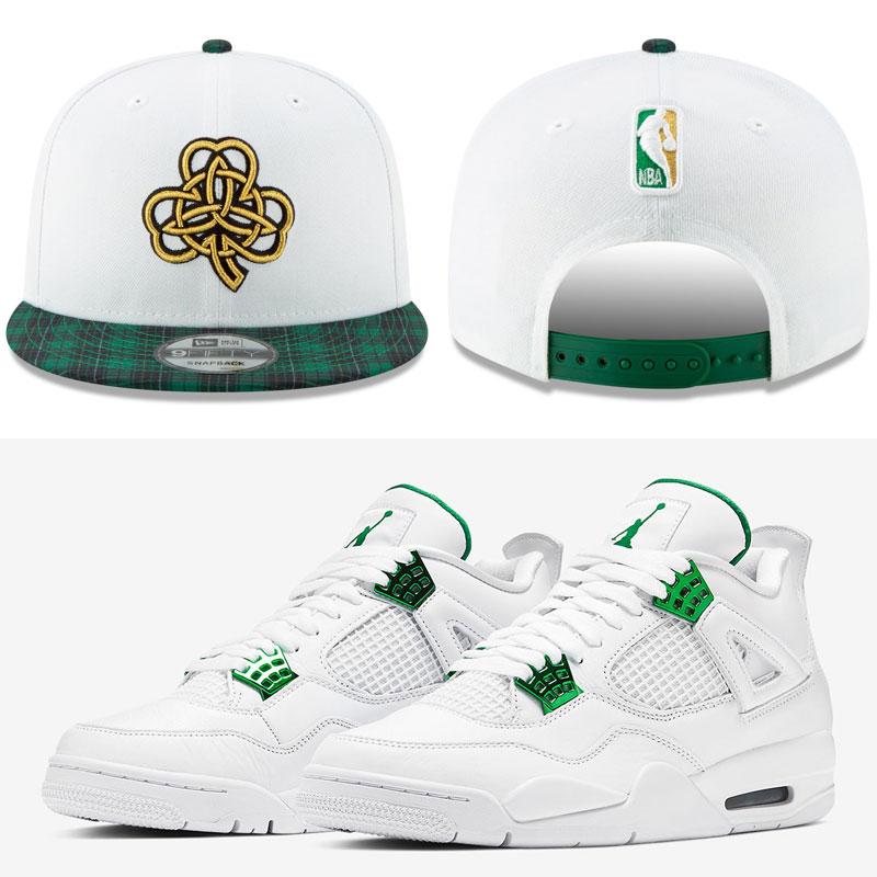 metallic-green-jordan-4-celtics-hat-match