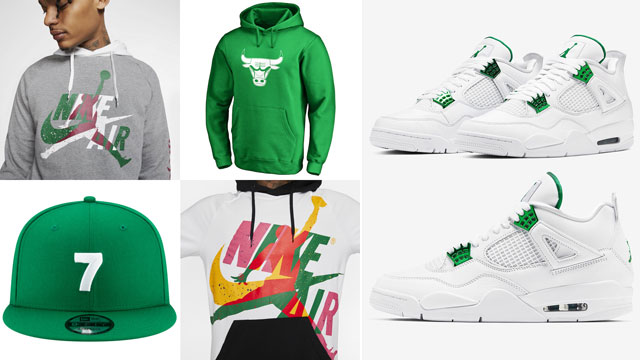 metallic-green-jordan-4-outfits