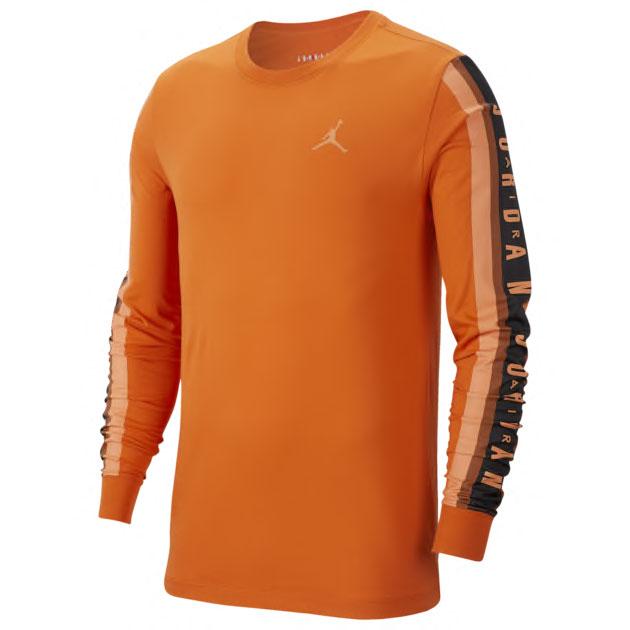 metallic-orange-air-jordan-4-shirt-match