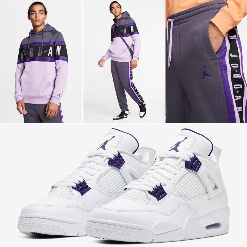 metallic-purple-jordan-4-clothing