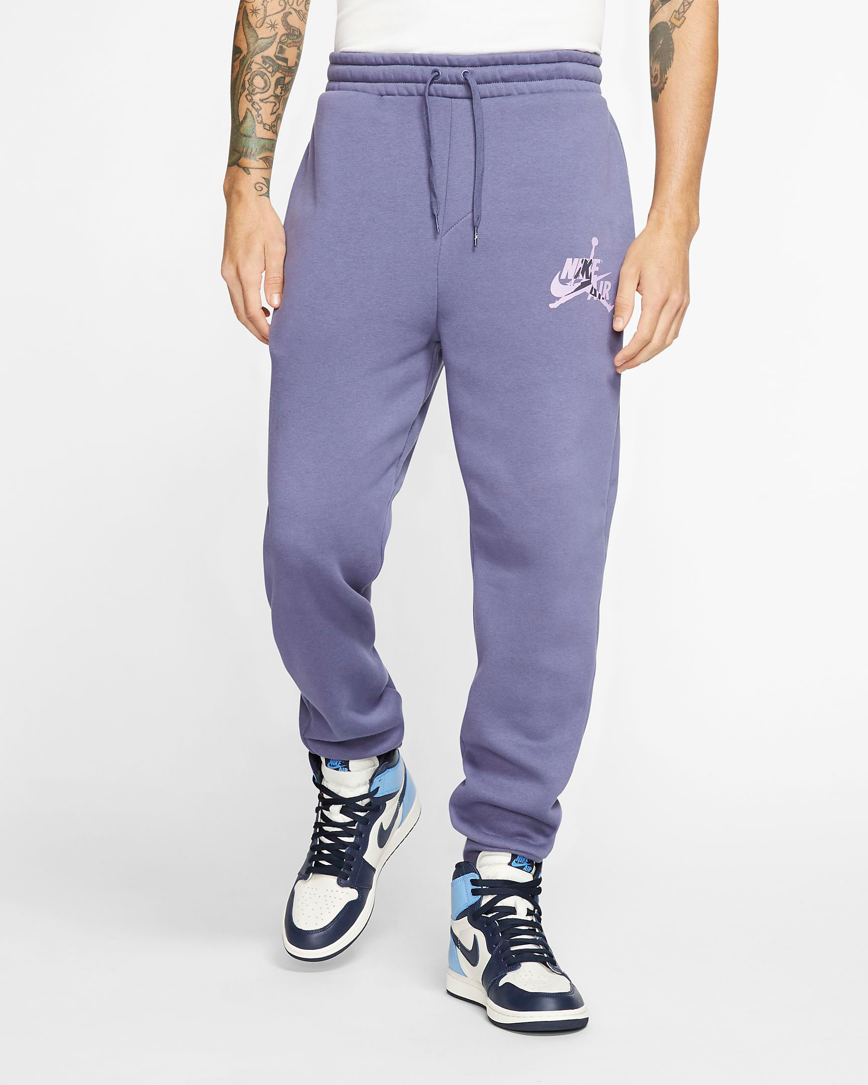 purple-metallic-jordan-4-pants-1