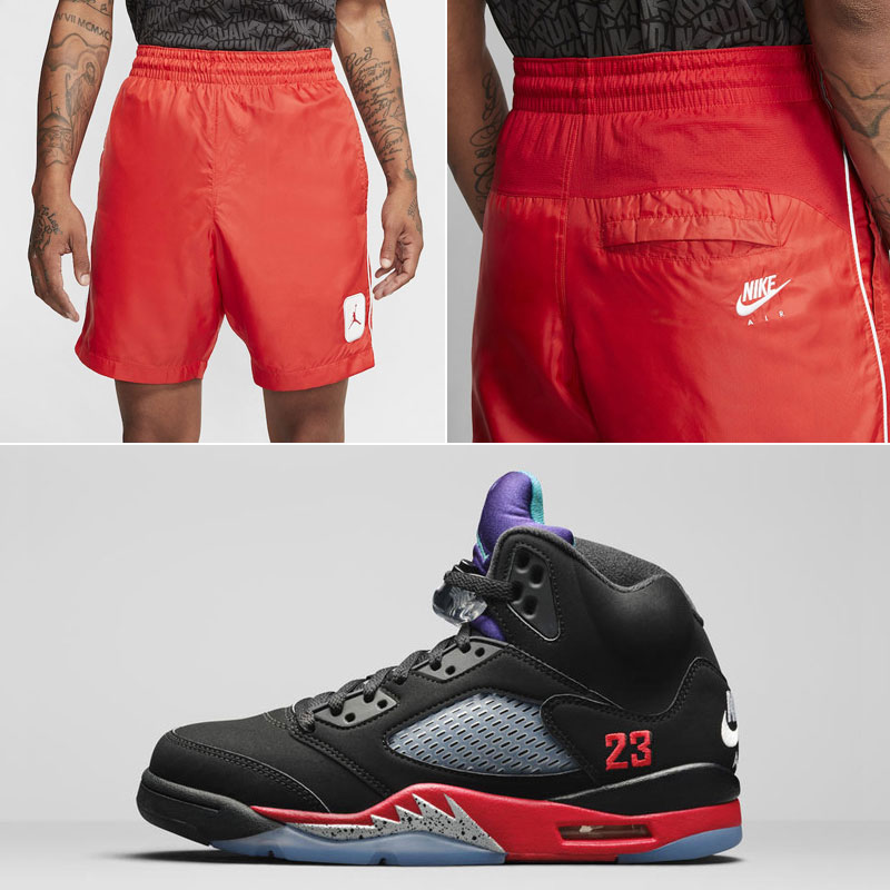 air-jordan-5-top-3-nike-air-shorts-match