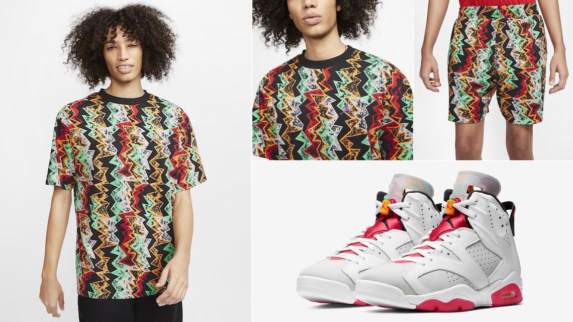 air-jordan-6-hare-matching-shirt-and-shorts