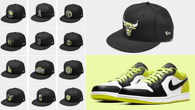 cyber-green-jordan-1-low-hat-match