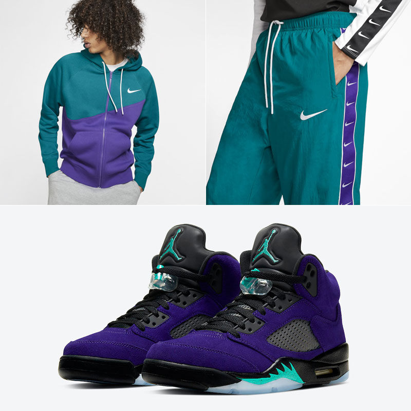 jordan-5-alternate-grape-nike-clothing-match