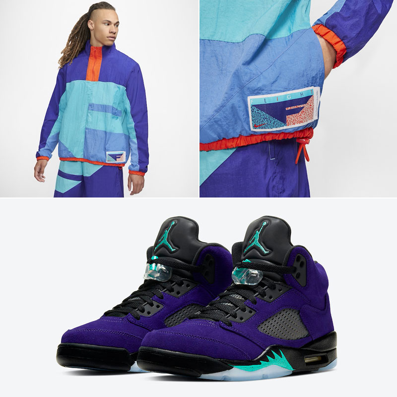 jordan-5-alternate-grape-nike-flight-clothing