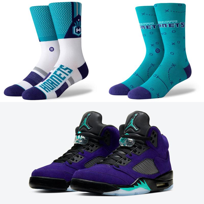 jordan-5-purple-grape-ice-hornets-socks