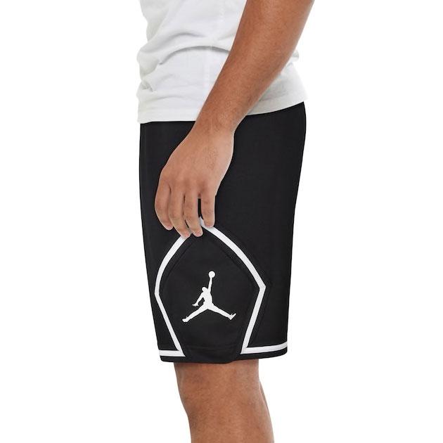 jordan-jumpman-diamond-fleece-shorts-black-white-2