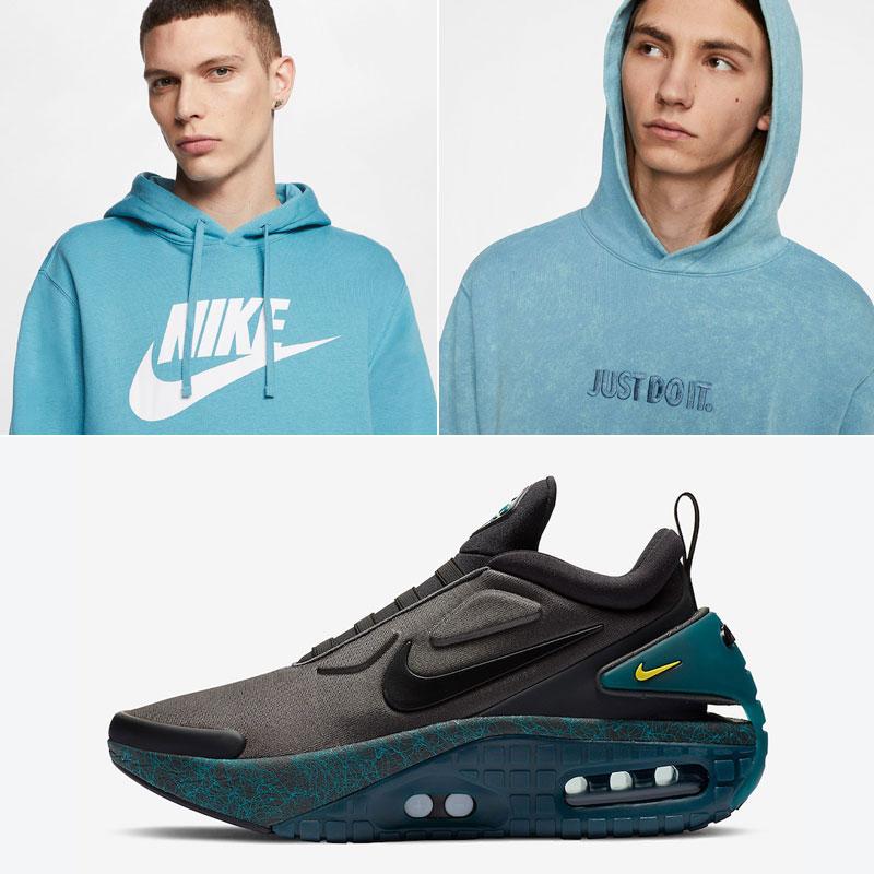 nike-adapt-auto-max-anthracite-green-matching-hoodies