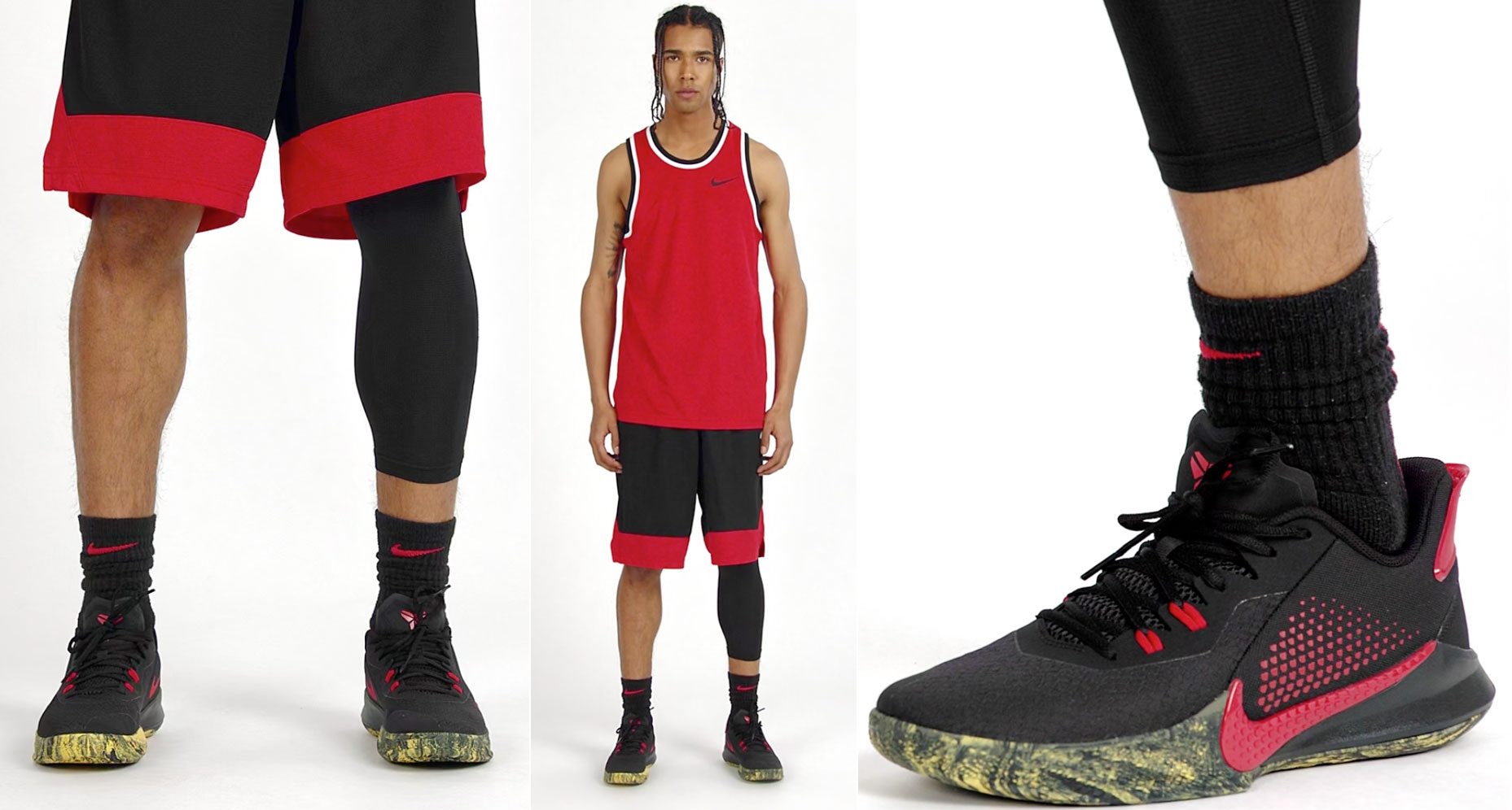 nike-kobe-mamba-fury-bruce-lee-black-red-yellow-outfit
