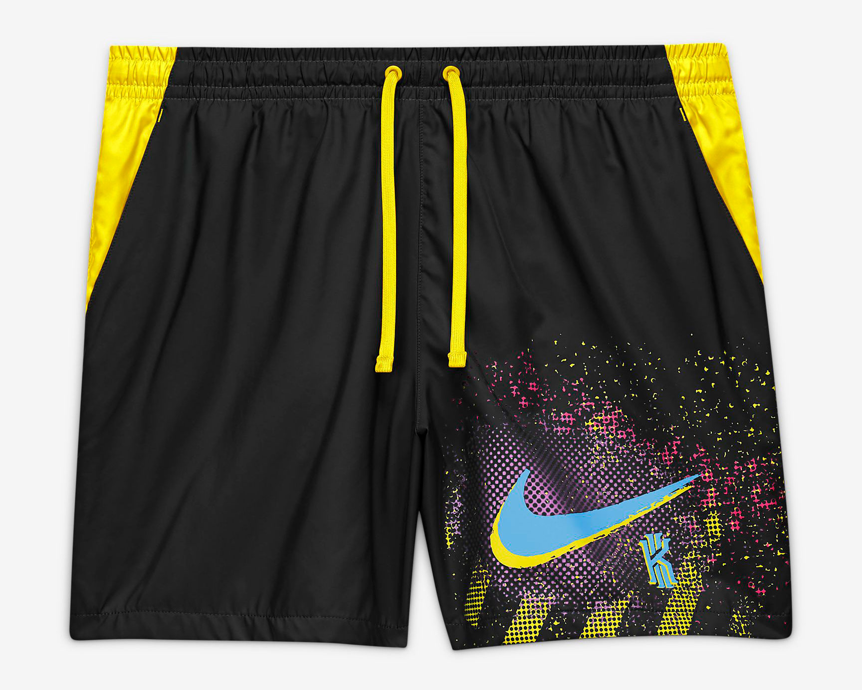 nike-kyrie-6-neon-graffiti-shorts-black-yellow-1