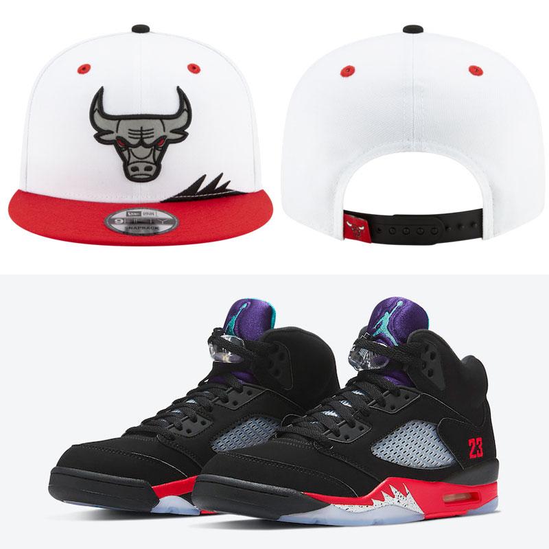 top-3-air-jordan-5-bulls-hats-match