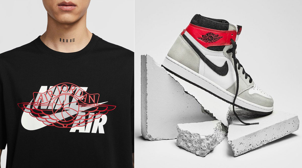 Jordan 1 High Light Smoke Grey Sneaker Tee Sneakerfits Com