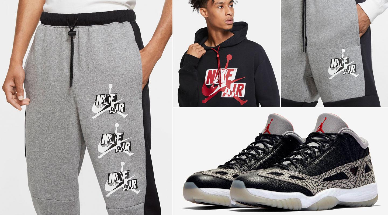 air-jordan-11-low-ie-black-cement-fleece-apparel