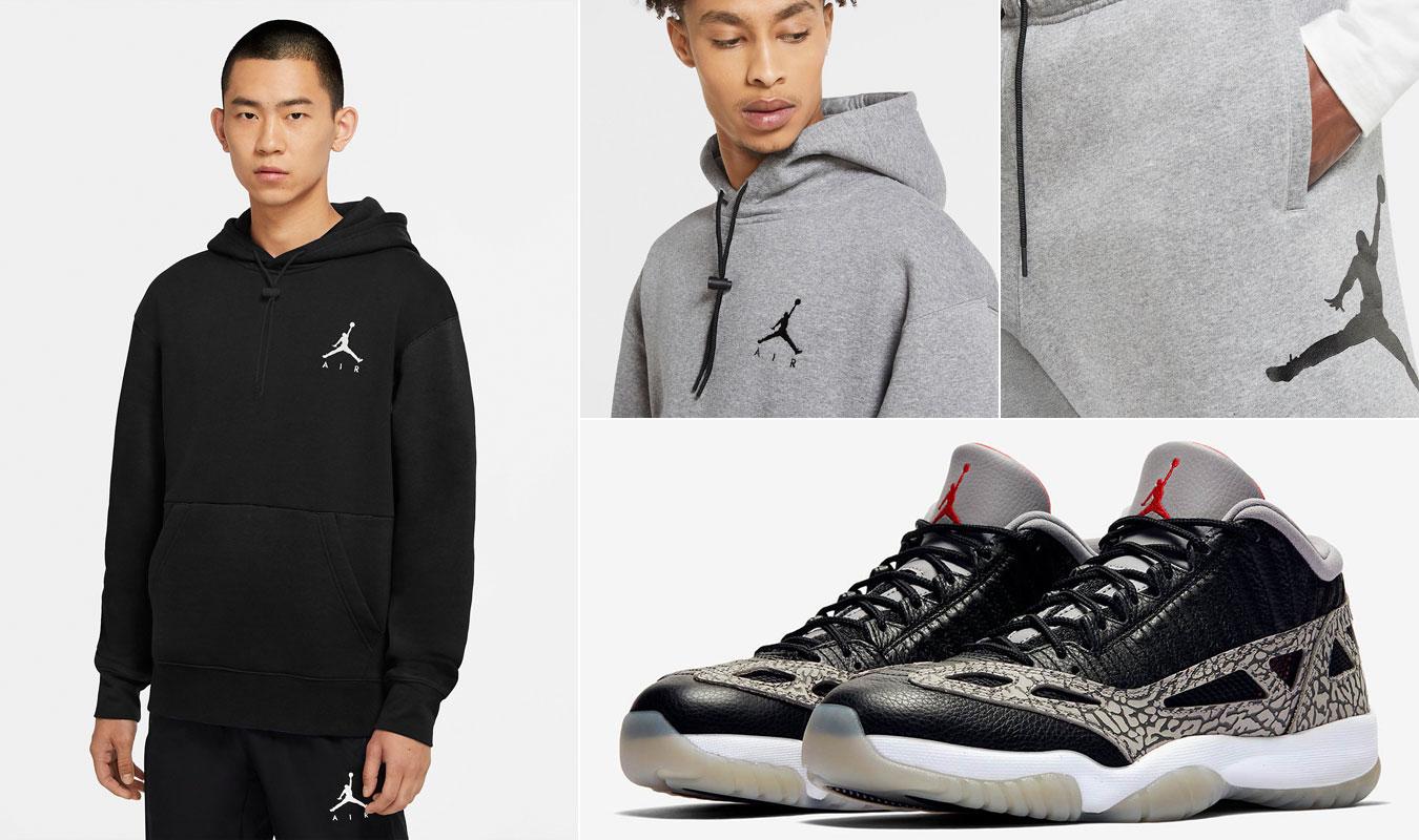 air-jordan-11-low-ie-black-cement-fleece-jumpman-clothing