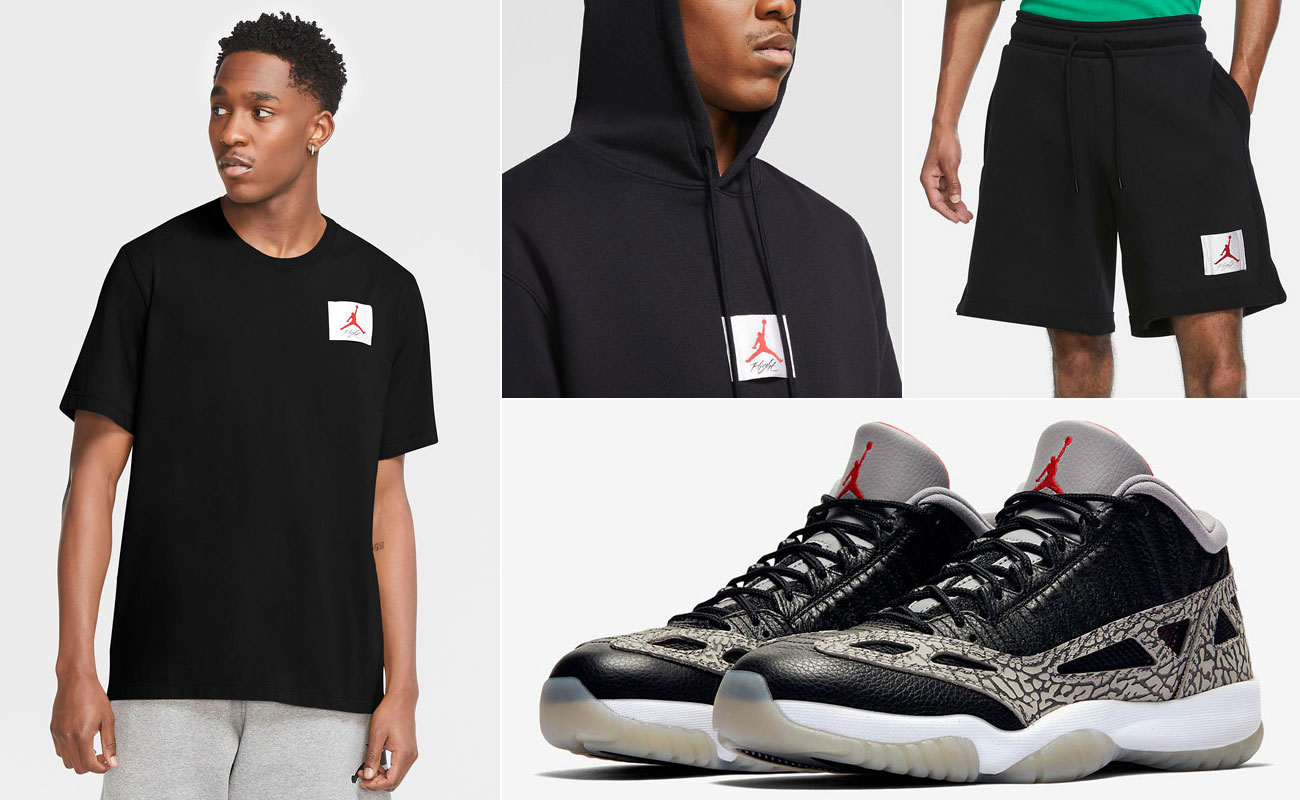 air-jordan-11-low-ie-black-cement-matching-clothes