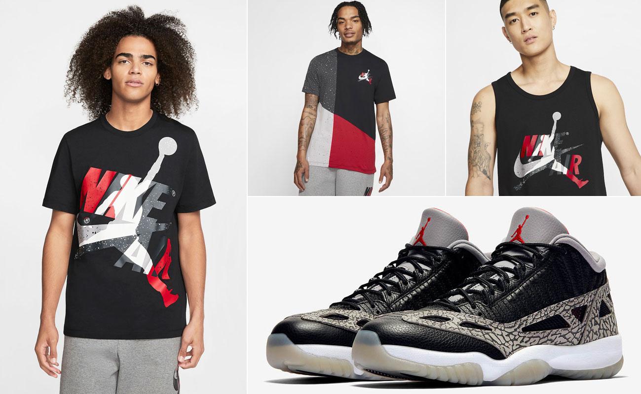 air-jordan-11-low-ie-black-cement-shirts