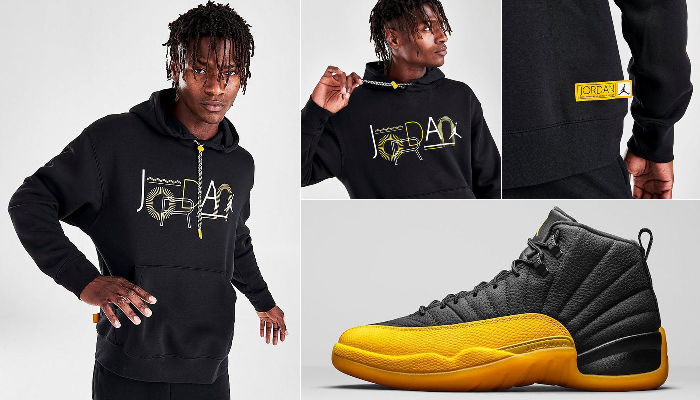 yellow and black jordan outfit