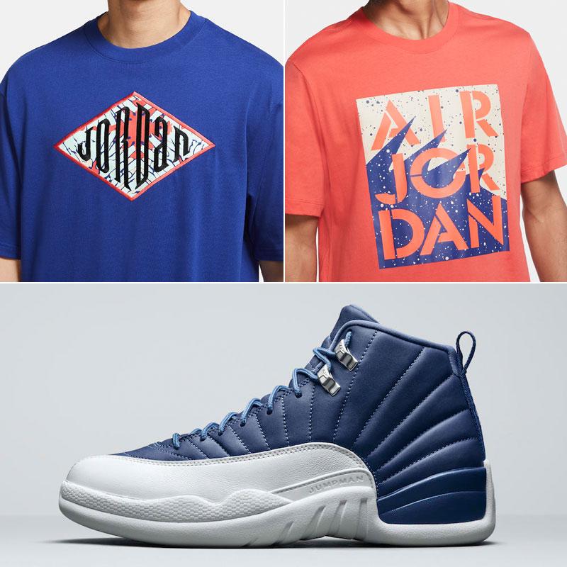 air-jordan-12-indigo-blue-shirts