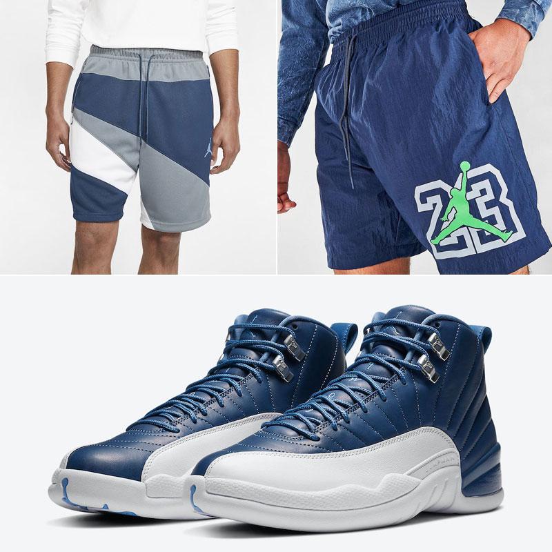 air-jordan-12-indigo-shorts-match