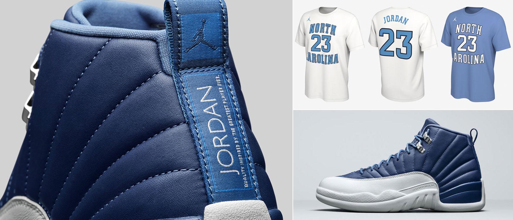 air-jordan-12-indigo-stone-blue-shirts