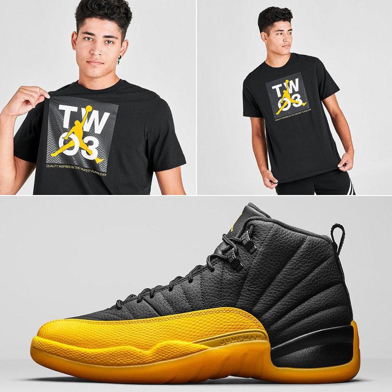 Jordan 12 University Gold Sneaker Shirt Sneakerfits Com