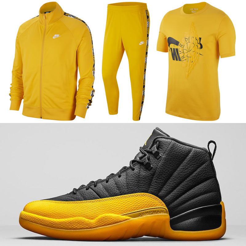 air-jordan-12-university-gold-clothing-to-match