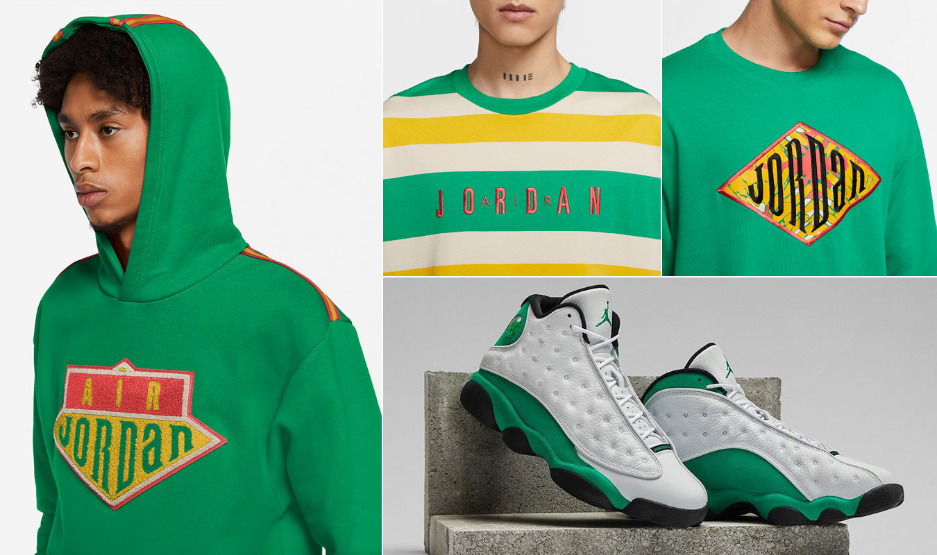 air-jordan-13-lucky-green-clothing-match