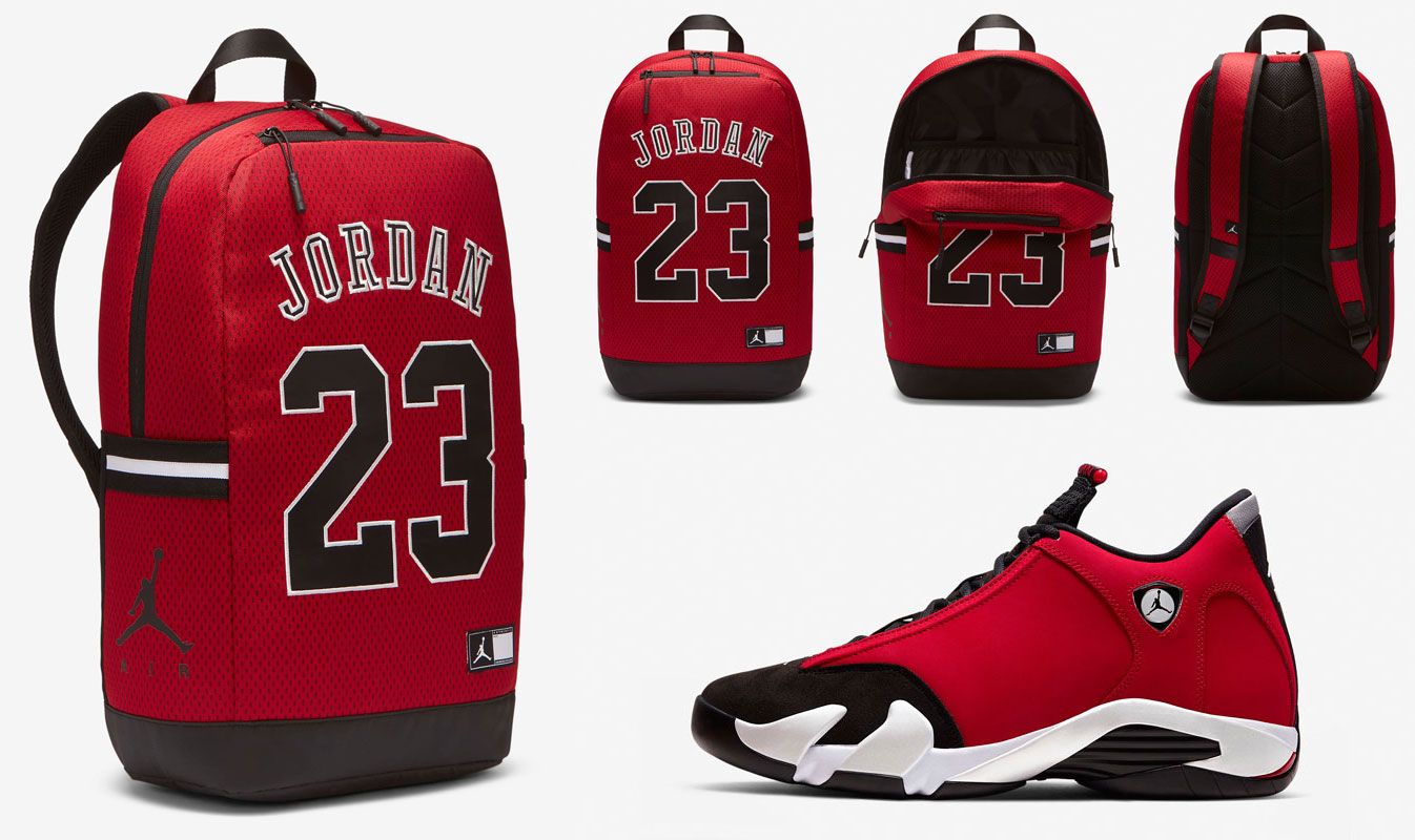 air-jordan-14-toro-gym-red-backpack-match