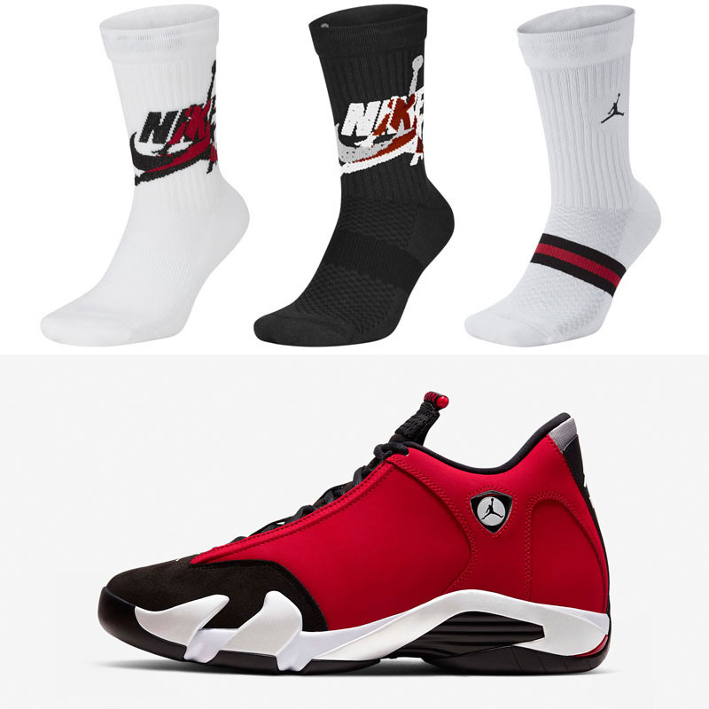 air-jordan-14-toro-gym-red-socks