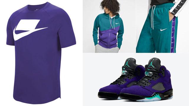 air-jordan-5-alternate-purple-grape-nike-apparel-match