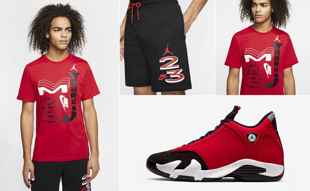 air-jordn-14-gym-red-toro-shirt-shorts-outfit