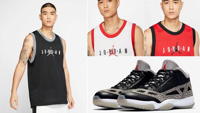 black-cement-jordan-11-low-ie-jersey-tank-top-match