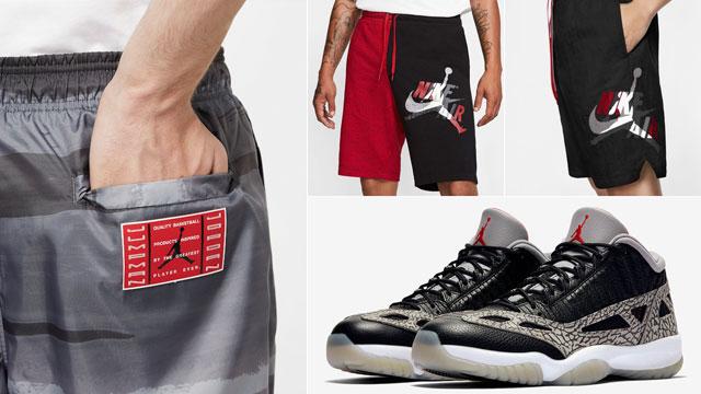 black-cement-jordan-11-low-ie-shorts-match