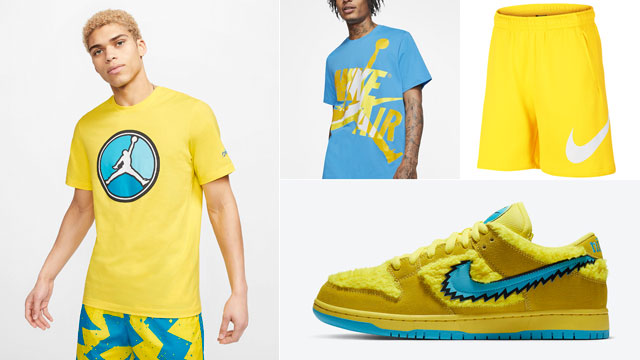 grateful-dead-nike-sb-dunk-low-yellow-bear-apparel-outfits