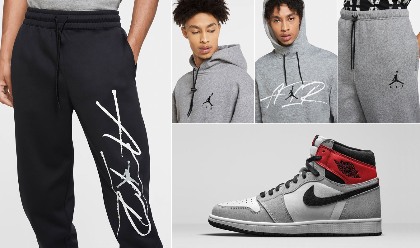 Jordan 1 High Smoke Grey Hoodie Pants Match Sneakerfits Com