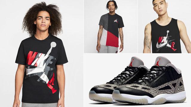 jordan-11-low-ie-black-cement-matching-shirts