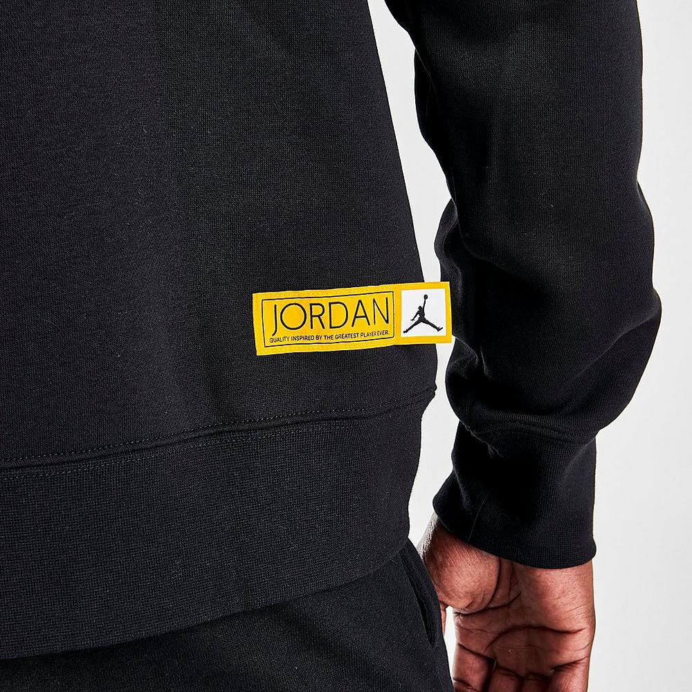 jordan-12-black-university-gold-hoodie-2