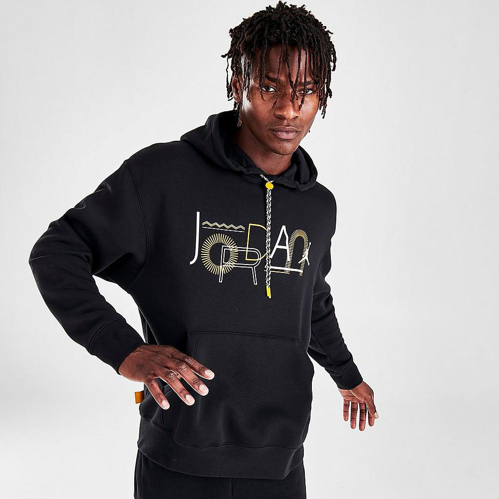 jordan-12-black-university-gold-hoodie-3