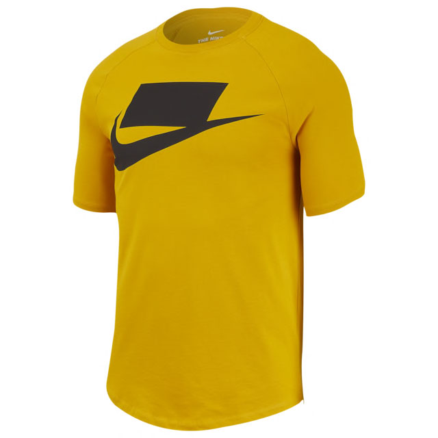 jordan-12-thunder-university-gold-nike-shirt