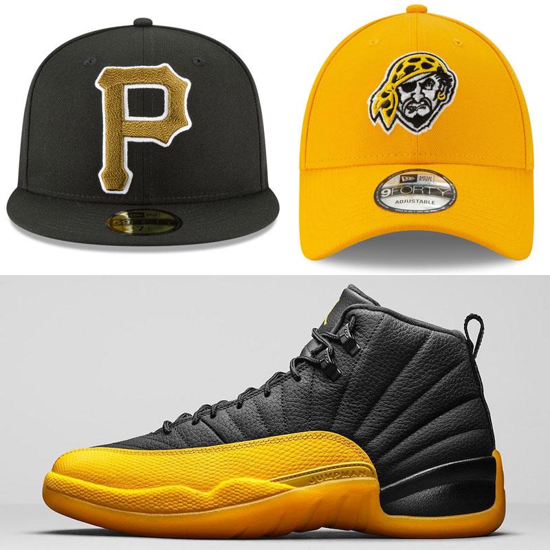jordan-12-university-gold-hats-to-match