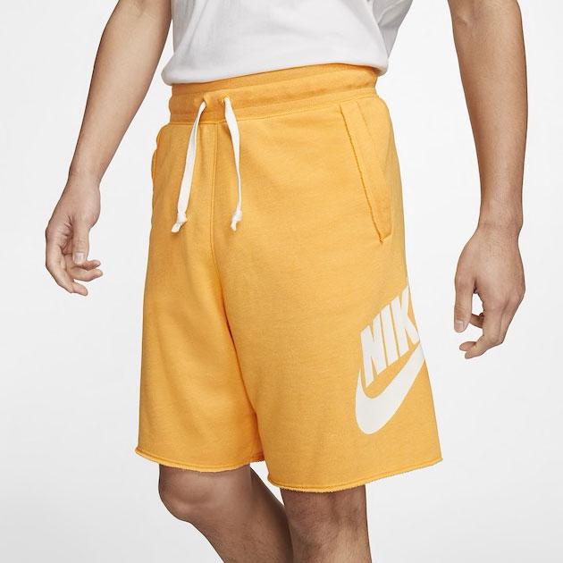 jordan-12-university-gold-nike-shorts-match
