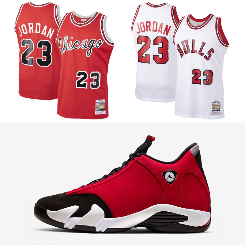 jordan-14-toro-gym-red-michael-jordan-bulls-jersey