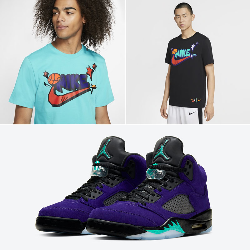 jordan-5-purple-grape-nike-t-shirt-match